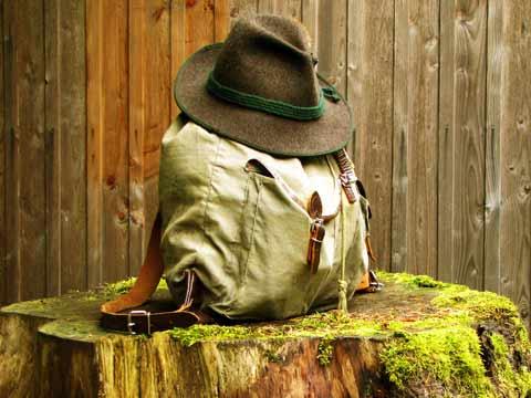 Der Rucksack muss mit!